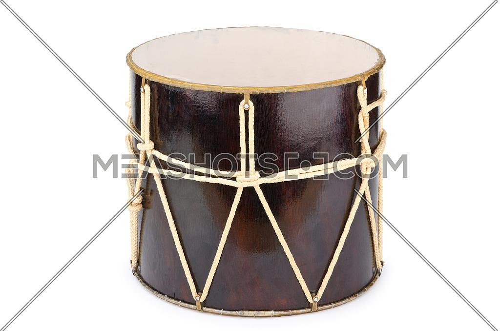 Azeri traditional drum nagara on white