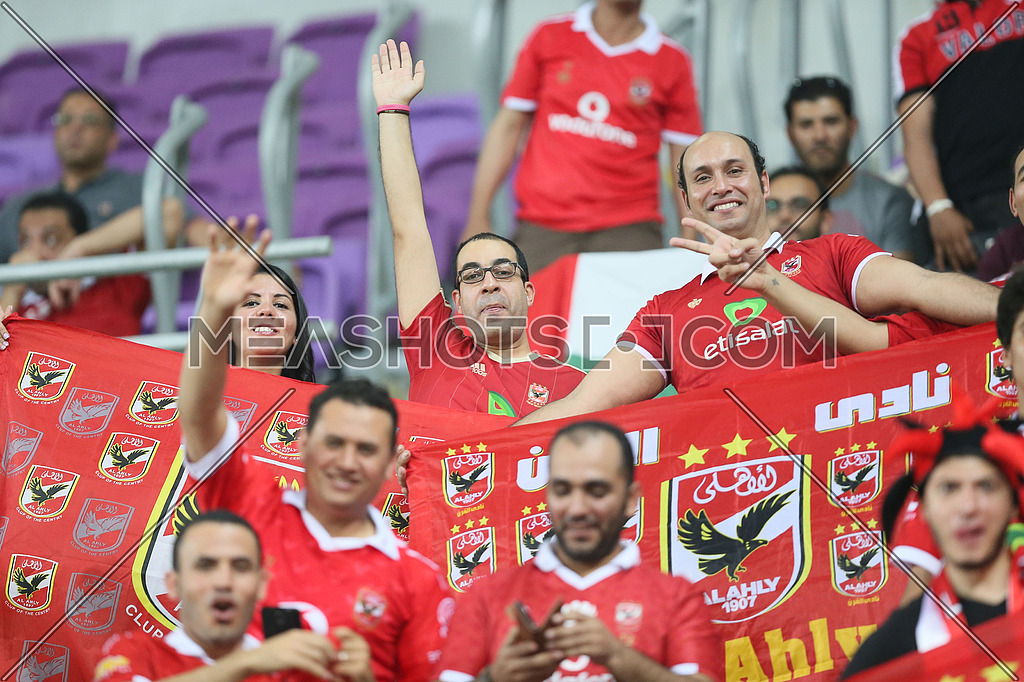 Egyptian football team el ahly plays against AS Roma in abu Dabhi UAE