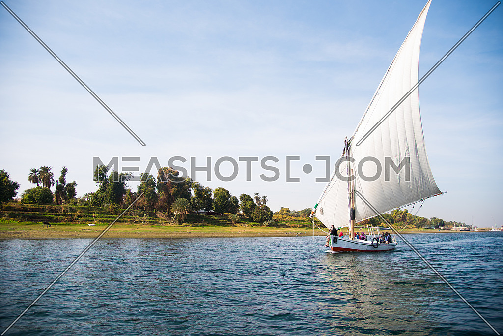 Folouka Boat On the River Nile In Aswan - Egypt