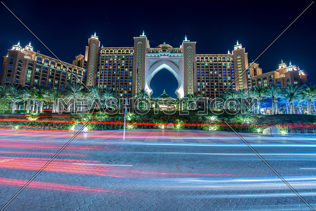 Dubai - JANUARY 8, 2015: Atlantis the Palm Hotel on January 8 in UAE, Dubai. Atlantis is luxury hotel in Dubai