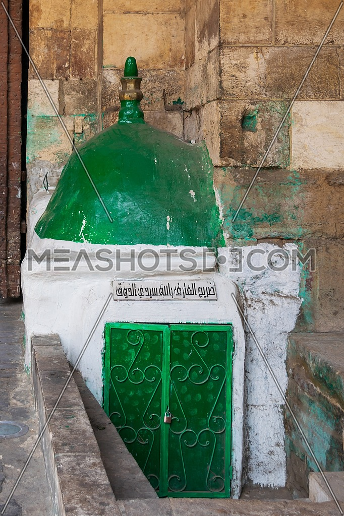 Mausoleum of Sidi Hassan El Zouk, attached to old Cairo gate named Bab Al Futuh, Moez Street, Cairo, Egypt