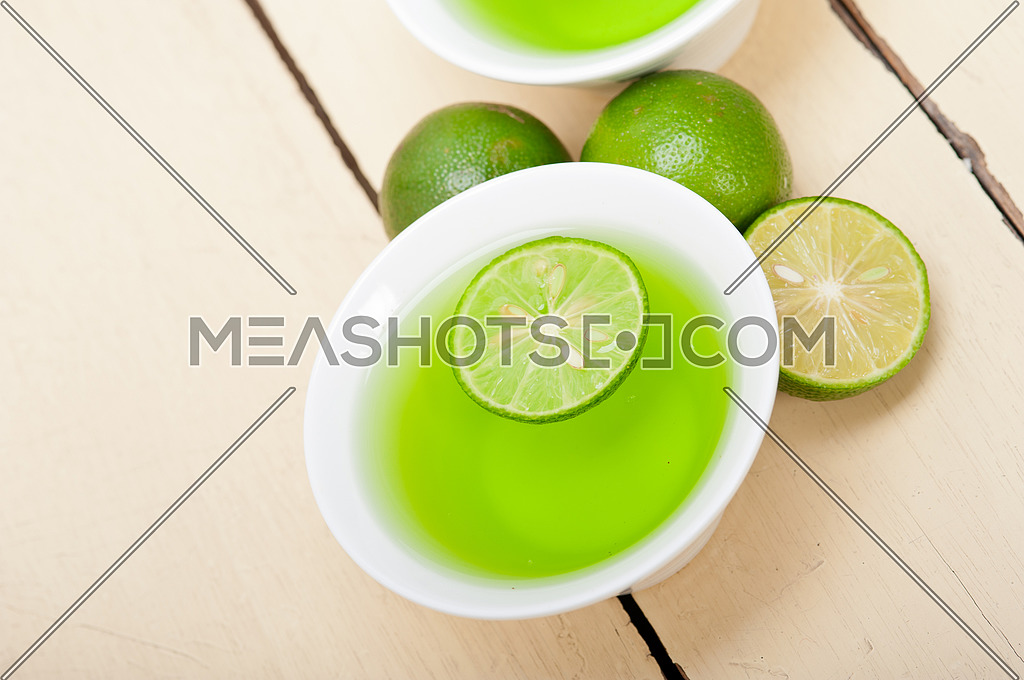 fresh and healthy green lime lemonade macro closeup