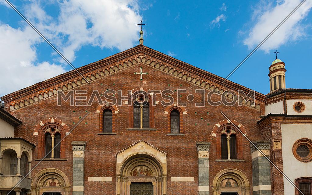 Basilica of Sant Eustorgio-front side -Milan,Italy
