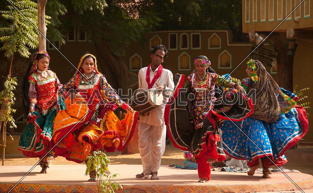 female kalbelia dancers perform the Kalbelia dance during the Festival. on November 29, 2009 at Jaipur, Rajasthan, India