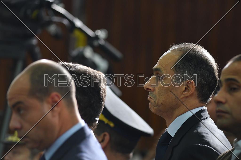 Gamal Mubarak During court at 'Borders Break' case in front - December 2018.