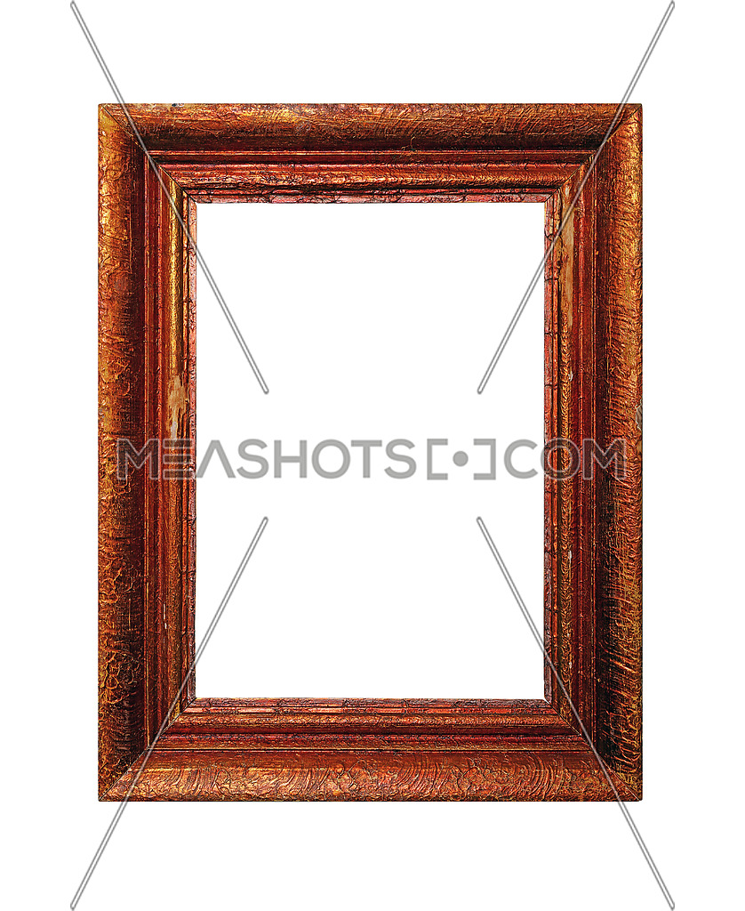 Photo for Vintage old antique red, brown and golden painted vertical ...