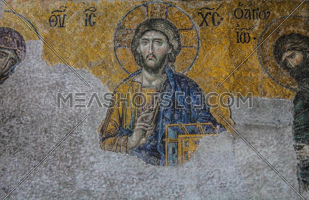 jesus mosaic in hagia sophia