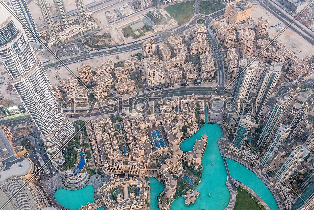 View of the address hotel downtown dubai from Burj Khalifa Dubai
