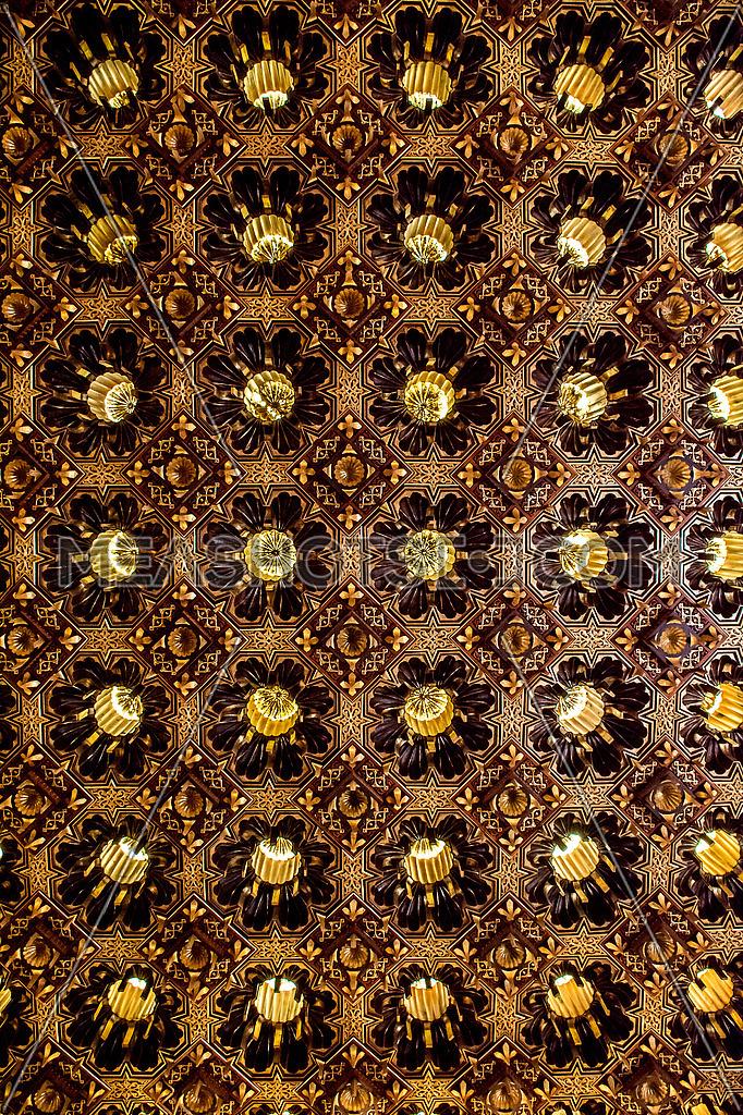 wooden golden pattern Texture