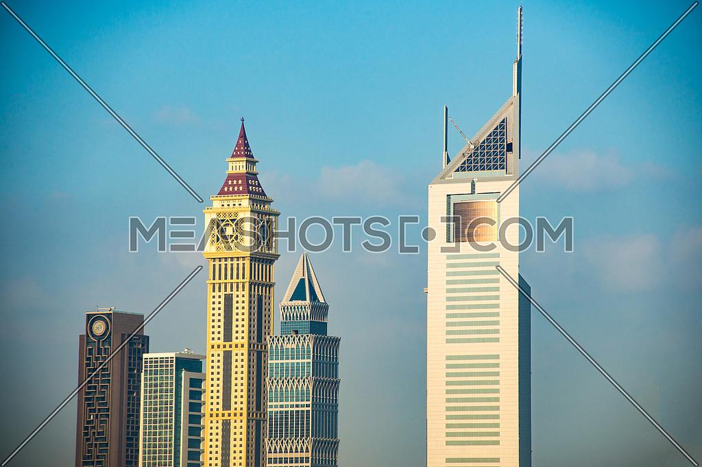 Dubai cityscape emirates tower
