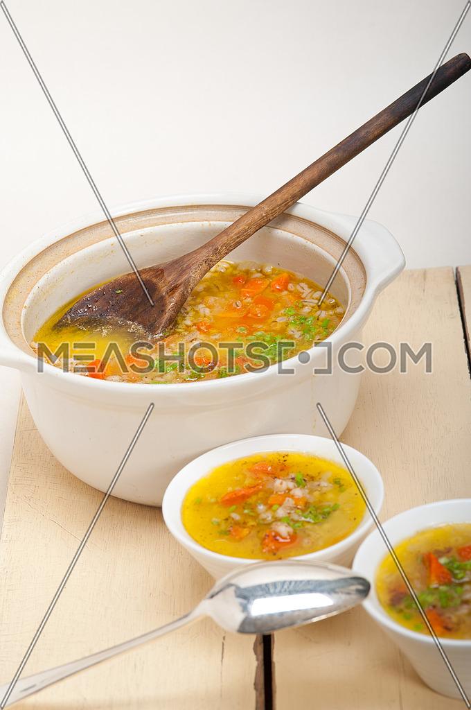 Syrian barley broth soup Aleppo style-29938 | Meashots