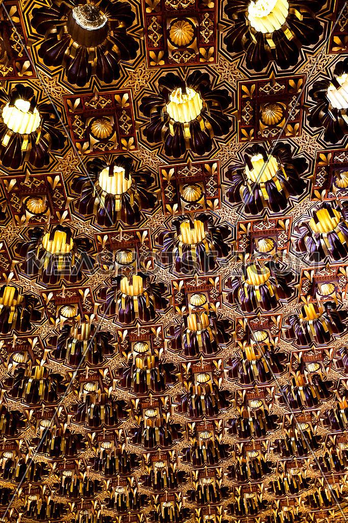 wooden golden pattern Texture in prospective