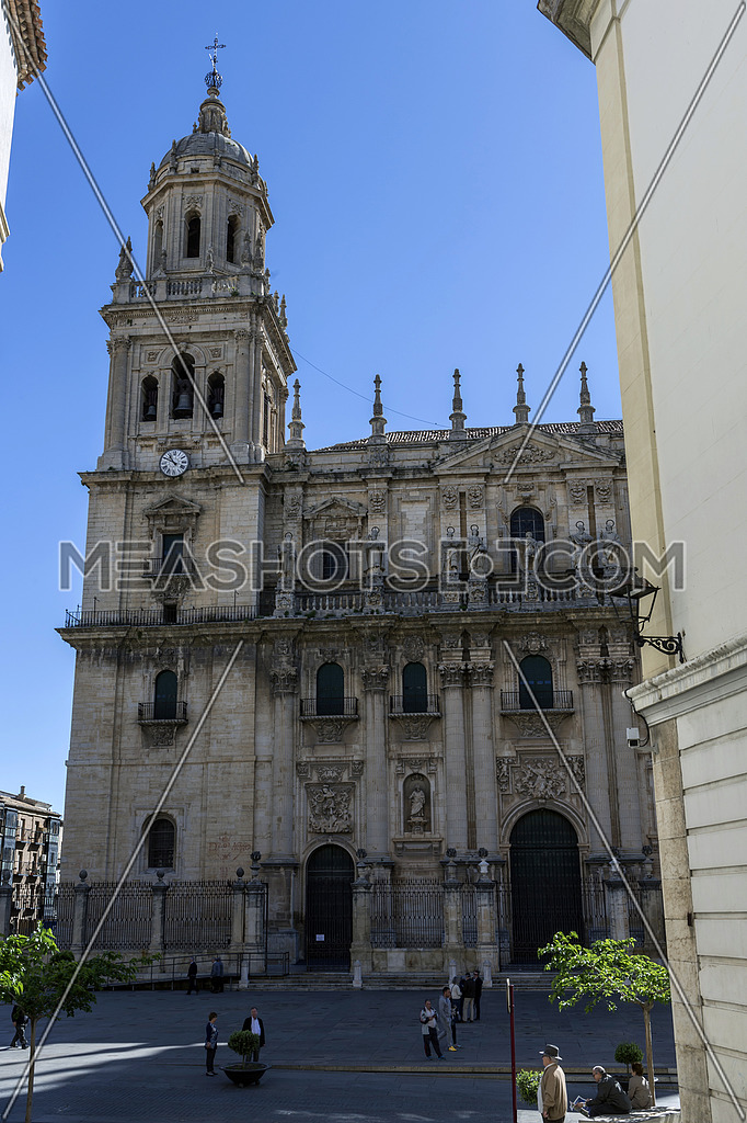 Jaen, Spain - may 2016, 2: The cathedral of the holy Church in Jaen, also called Assumption of the Virgin Cathedral, Take in Jaen, Spain