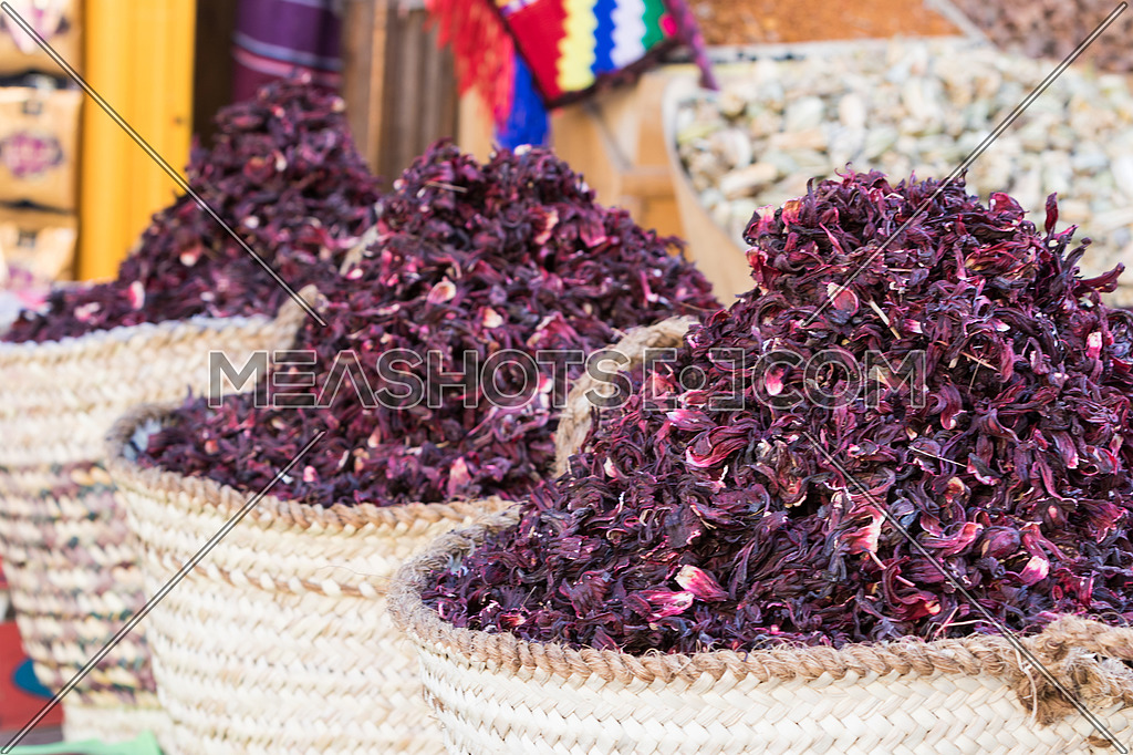 Dried Hibiscus Flower In The Market 123278 Meashots
