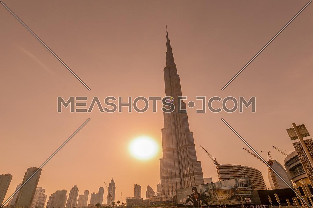 Burj Khalifa skyscraper in Dubai UAE, is tallest tower in the world