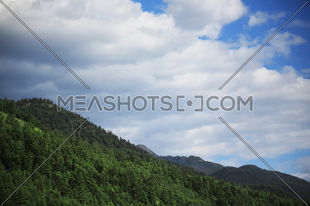 mountain landscape with cloudy skys