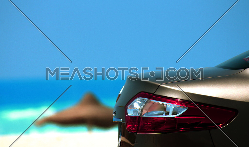 A car by the beach