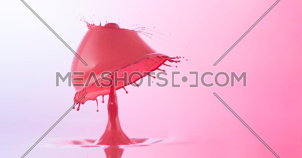 Pinky macro water drop photography