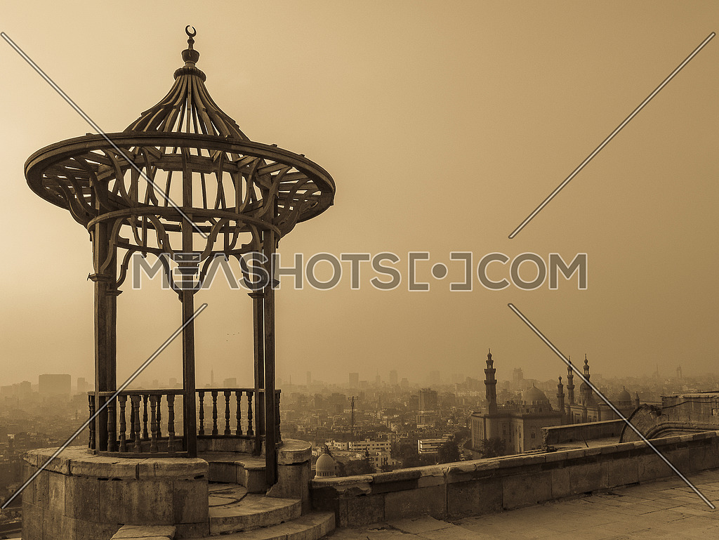 a sepiah image of Old Cairo View from the Citadel