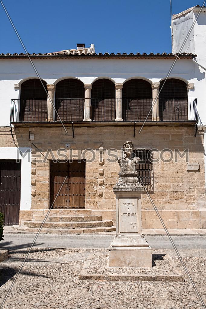 Square of Sabiote, Sculpture of Vandelvira, Sabiote, Jaen, Spain