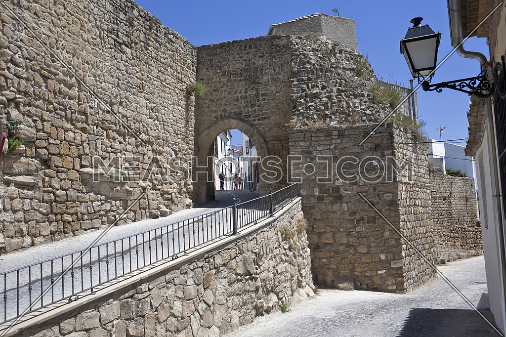 Mudejar door in the arabic wall, Sabiote