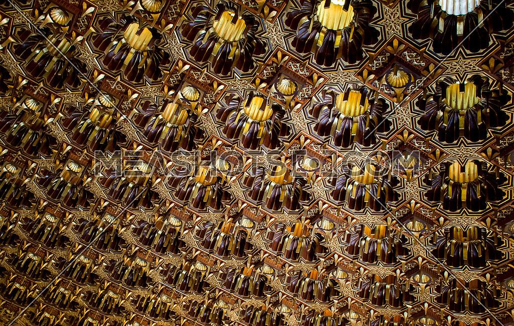 wooden golden patern prospective Texture