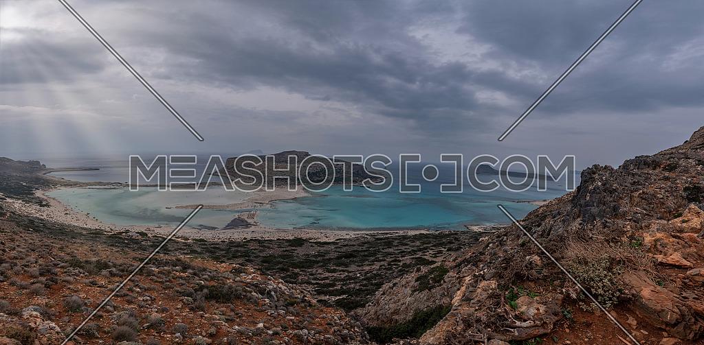 Tropical Beach Balos Lagoon On The Crete Island Greece