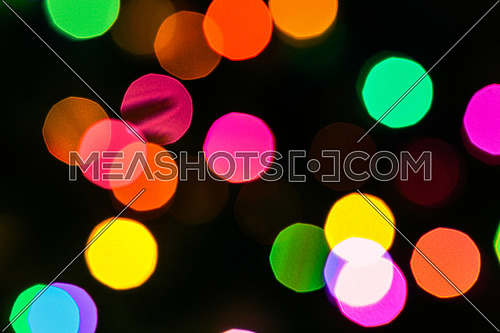 bokeh lights Photo of bokeh lights on black background