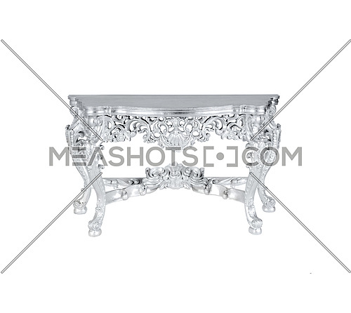 silver table isolated on white