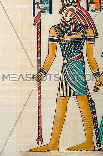 Egyptian history concept with papyrus