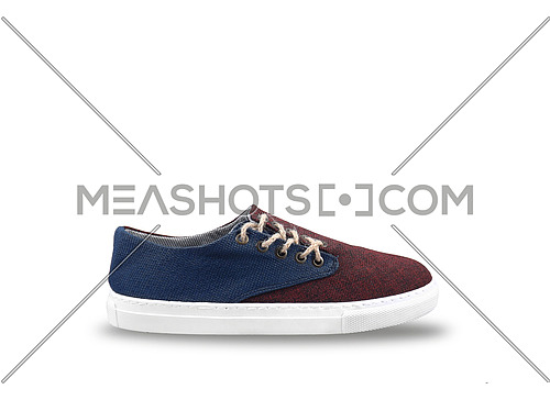 men shoes in white background