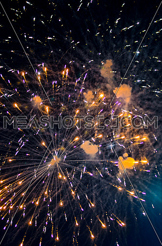 bright fireworks, night life and events