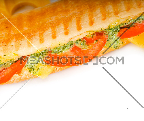 fresh homemade panini sandwich ,typical italian snack
