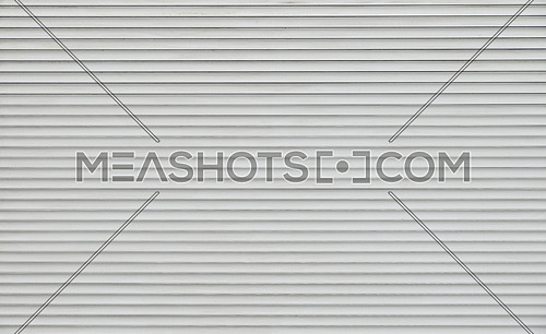 Background texture of grey and white color painted horizontal metal window roller shutter blinds