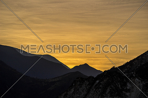 sunrise With mountains