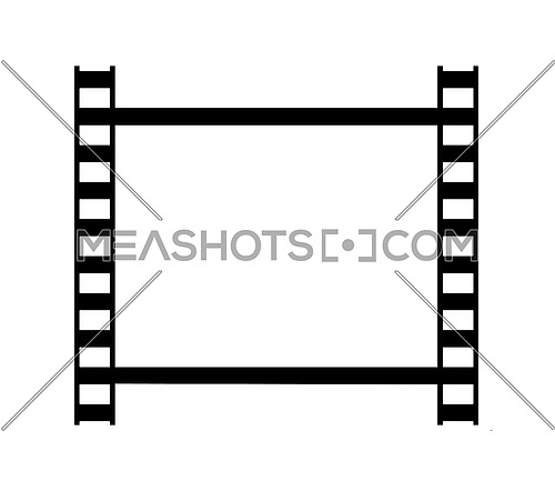Vector illustration of one classical 35 mm film strip frame isolated on white background