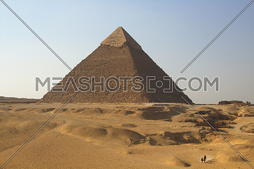 The great pyramid of Giza Khafre in a desert scenery