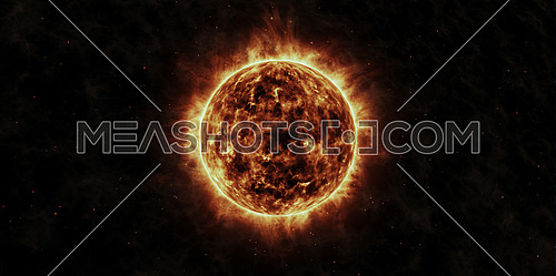 The Sun animation with star background