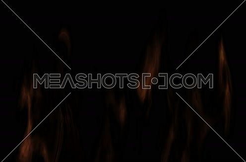 Fire Animation Isolated On Black Background