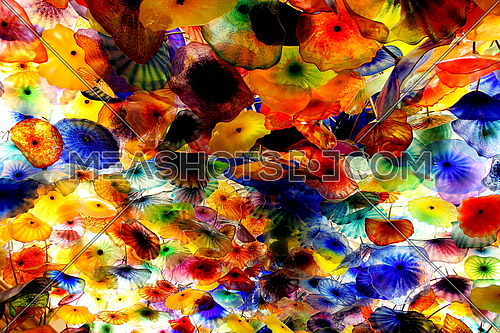 A colorful ceiling