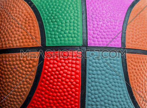 Multicolor Texture Detail of a balloon of basketball