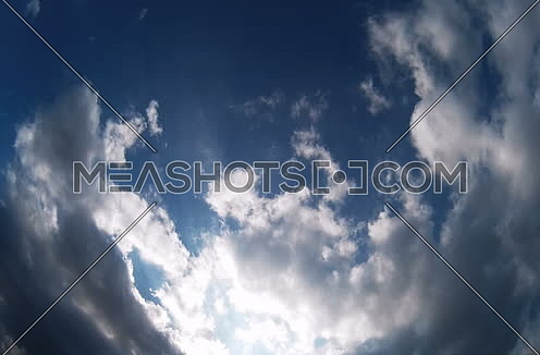 Clouds Timelapse On a Blue Sky