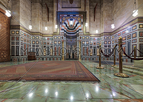 Interior of the tomb of the Reza Shah of Iran, Al Rifaii Mosque (Royal Mosque), Cairo, Egypt