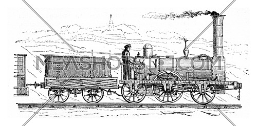 Railway accidents, vintage engraved illustration.