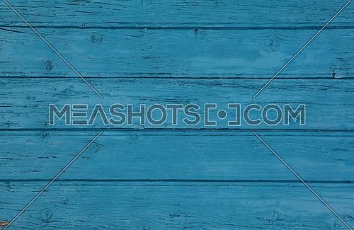 Close up background texture of blue vintage painted wooden planks, rustic style wall panel