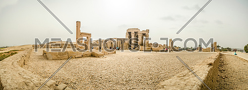 A panorama of a historical Pharaoh Temple