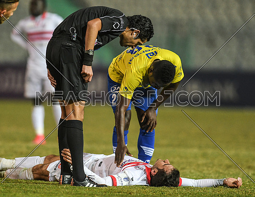 During  Zamalek and Tanta match in the Egyptian league on 4 february 2018