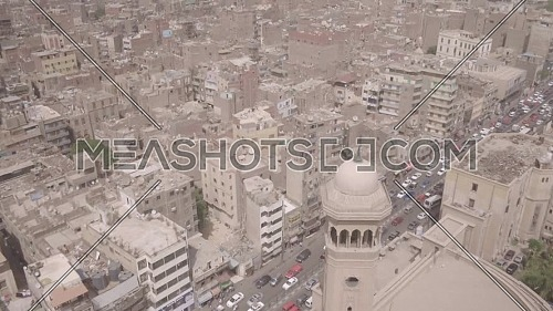 Reveal Shot for Al-Azhar Mosque's Minaret in Cairo by day