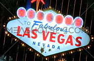 Welcome to Vegas sign at night - fast zoom in (1 of 4)