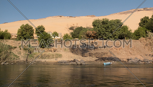 an abandoned boat in Aswan nile